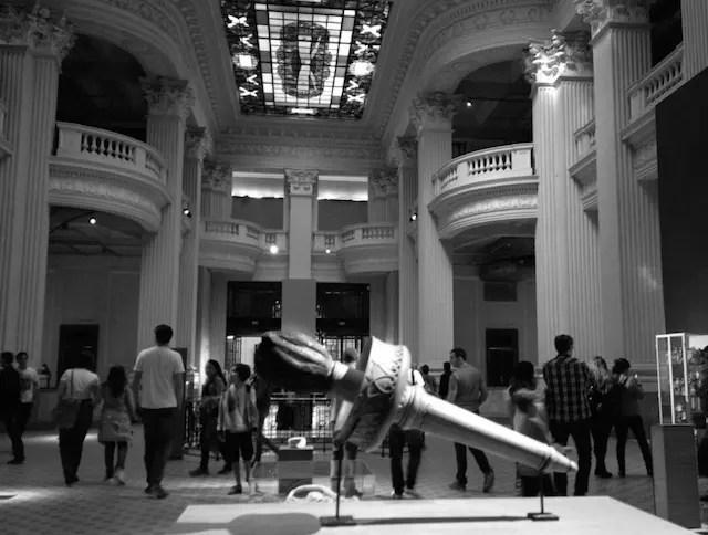 O espaço das exposições