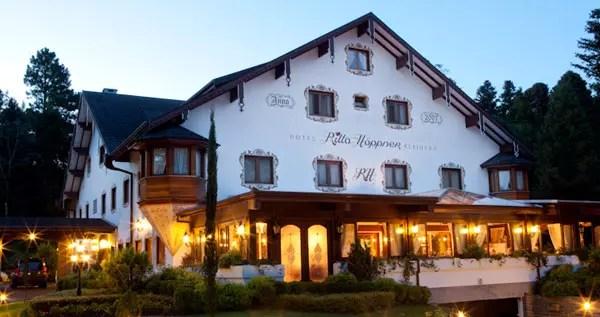 Foto site Hotel Ritta Hoppner (o restaurante é naquela parte iluminada!)