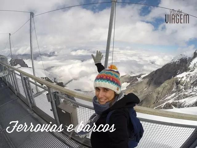 No topo de Jungfrau, a ferrovia mais alta da Europa !!!