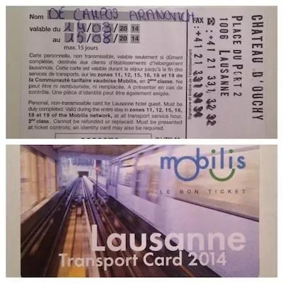 Uma superfacilidade suíça: muitos hotéis oferecem o transporte gratuito para o turista com este cartão !