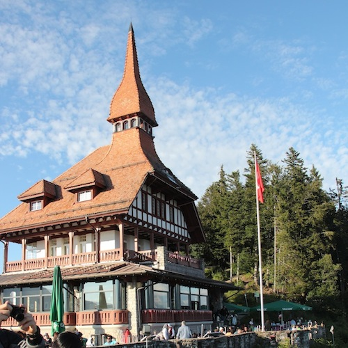 o restaurante no topo de Harder Kulm