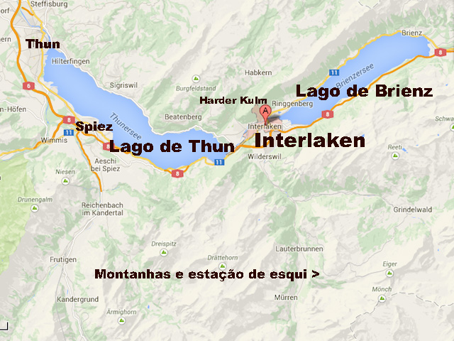 mapa interlaken