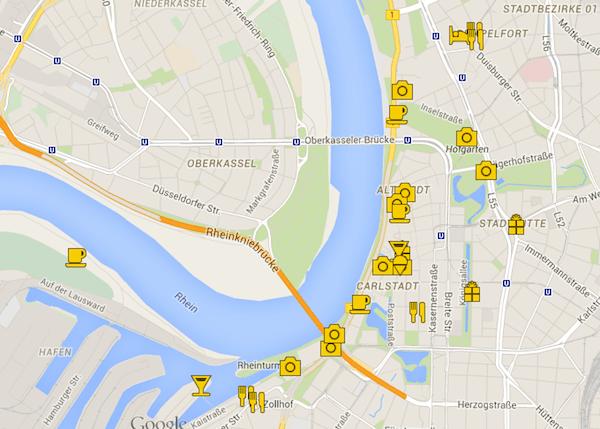 Clique no mapa e confira nosso trajeto e paradinhas especiais com endereços