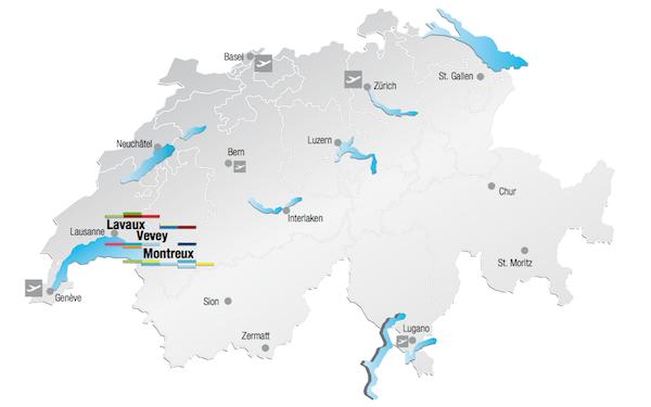 Fonte mapa: Montreux Toursim -