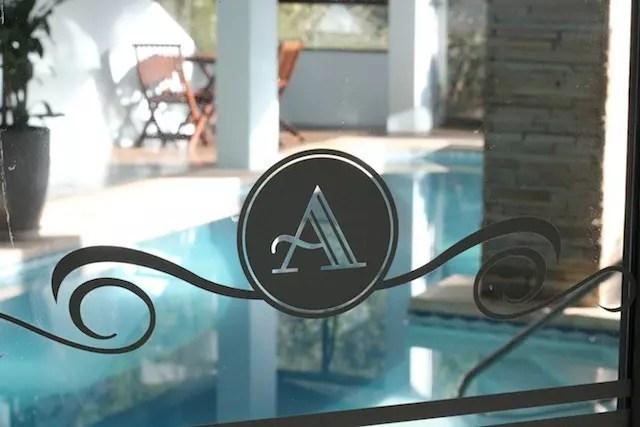 A piscina aquecida