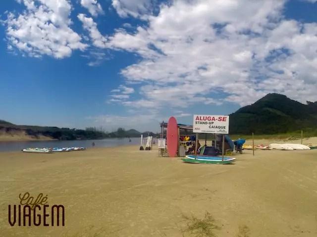 Local para aluguel de prancha na Praia de Siriu