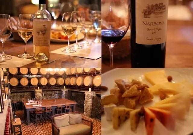 O clima fantástico da experiência de degustação dos vinhos Narbona