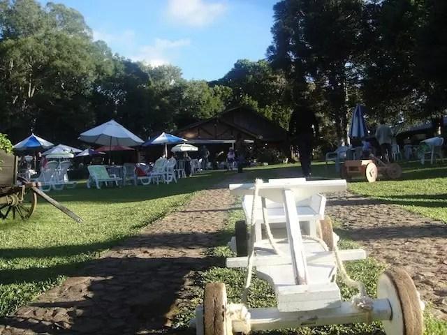El Paradiso em Morro Reuter - só abre para almoço nos finais de semana e feriados