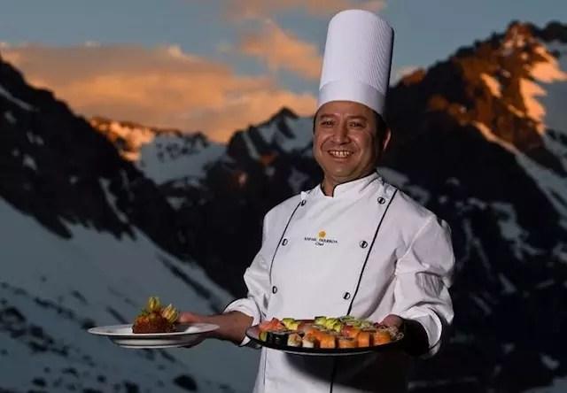 gastronomia do hotel Portillo