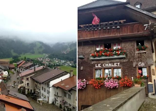 Mesmo com chuva, o vilarejo é puro charme!
