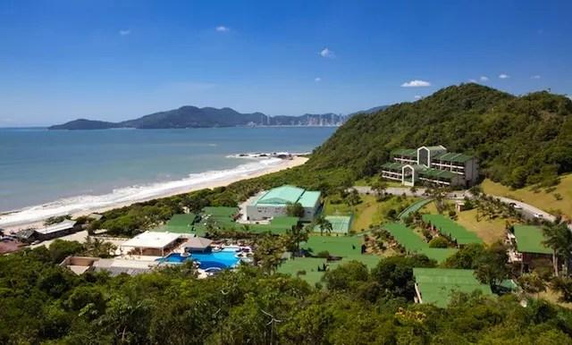 O resort de frente para a praia! Estamos chegandooo