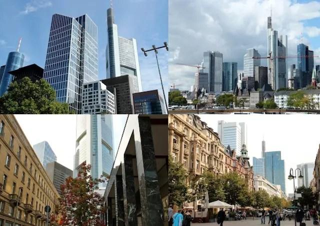 o contraste da arquitetura moderna e antiga
