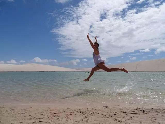 Pulo de emoção na Lagoa Azul registrado pelo meu amigo Maurício Oliveira do Trilhas e Aventuras