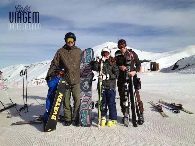Valle Nevado com filhos