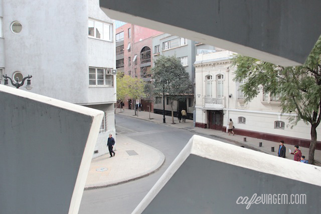 a rua charmosa pela janela design do quarto