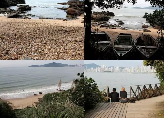 A trilha para o Morro do Careca e a Praia das Conchas onde são feitas algumas atividades com as crianças