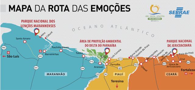Mapa divulgação Sebrae