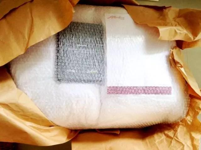 O pacote gigante que chegou pelo correio
