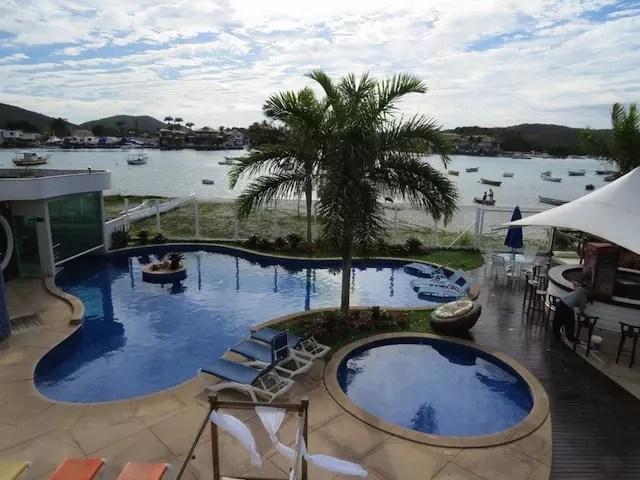 O hotel em Cabo Frio