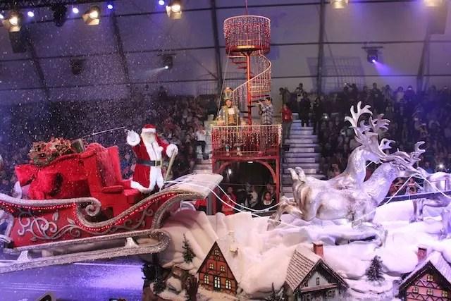 espetáculo Grande Desfile de Natal