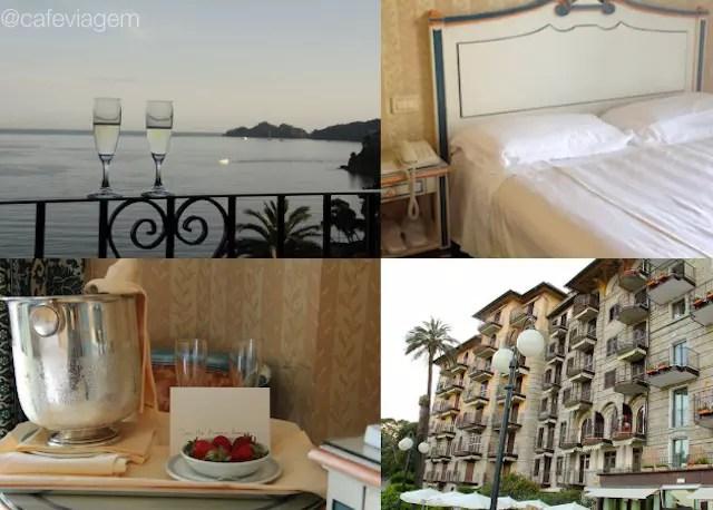 usando o Booking para reservar o hotel em Rapallo