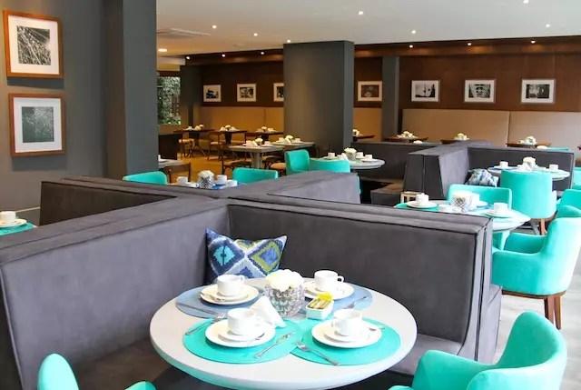 o restaurante e espaço onde é servido o delicioso café da manhã