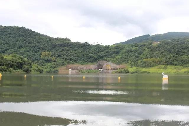 o passeio vai até a barragem onde fizemos o mergulho no Rio