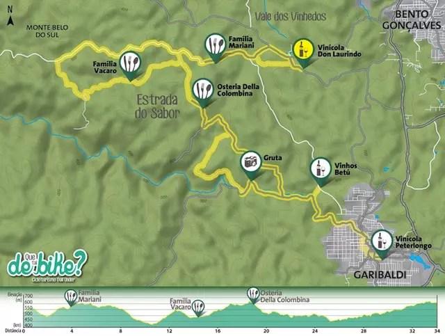 Mapa da rota feita pelo Que tal de bike - o passeio deve ser bem interessante, fica a dica!