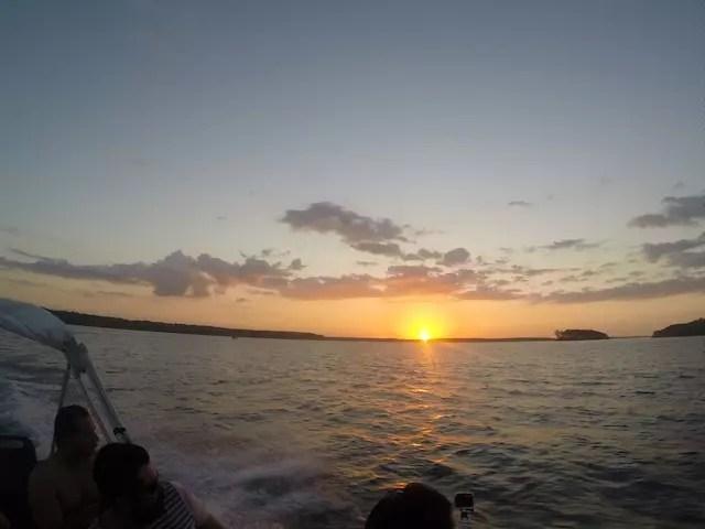 E a gente volta agradecendo por esse incrível pôr do sol