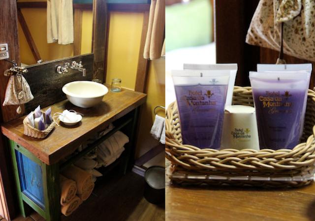 o banho completo e os cheirosos kits de higiene