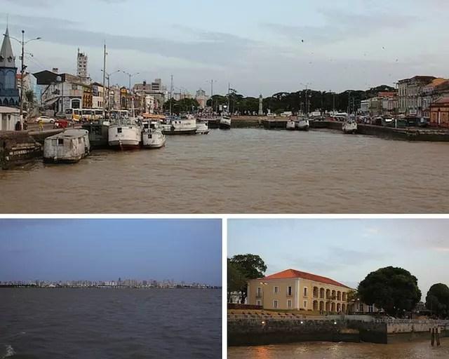 Uma visão de Belém do barco