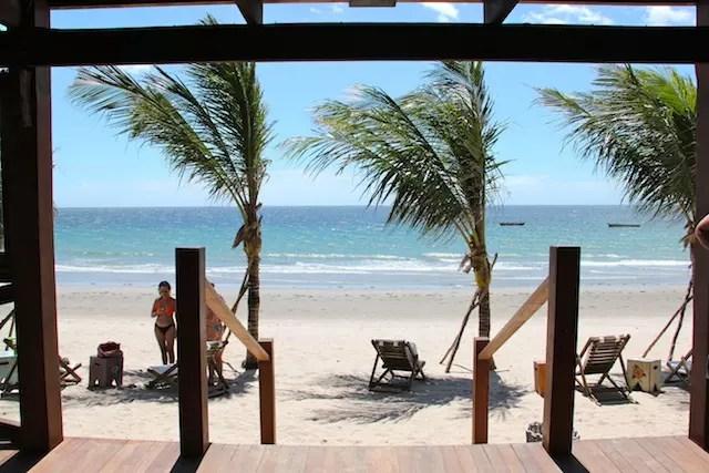 O restaurante Azul do Mar tem essa vista, nada mal, certo?