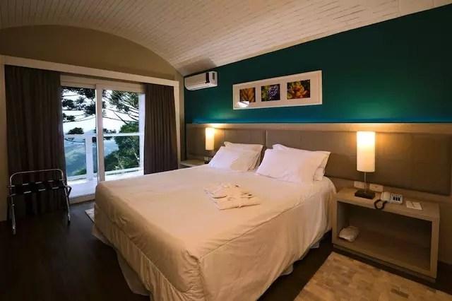 Suite Camelia - um dos quartos do hotel na ala mais nova. Foto Cleiton Thiele