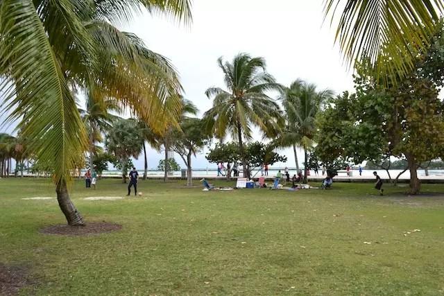 O delicioso parque de South Pointe em South Beach