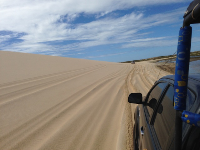 As emoções da estrada pelas dunas para chegar em Jeri