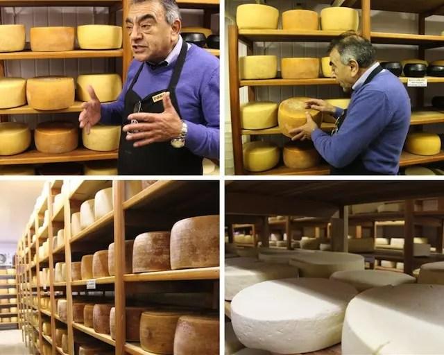 Toni nos dando uma aula sobre produção de queijos