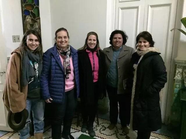 As blogueiras da Rota Farroupilha com a historiadora Vera Albornoz