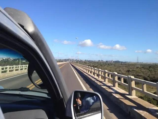 na ponte de Rosário do Sul