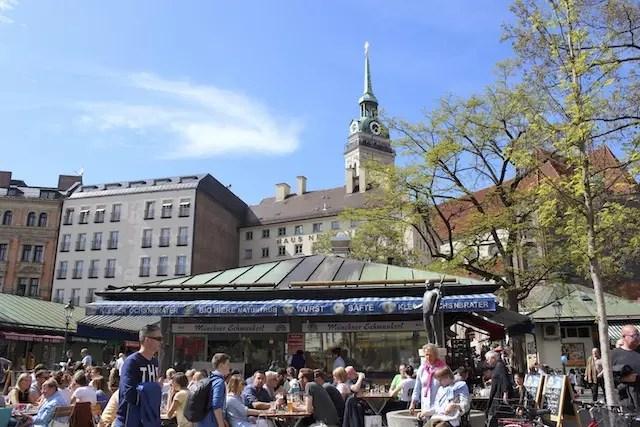 mercado gastronomico Viktualienmarkt de Munique