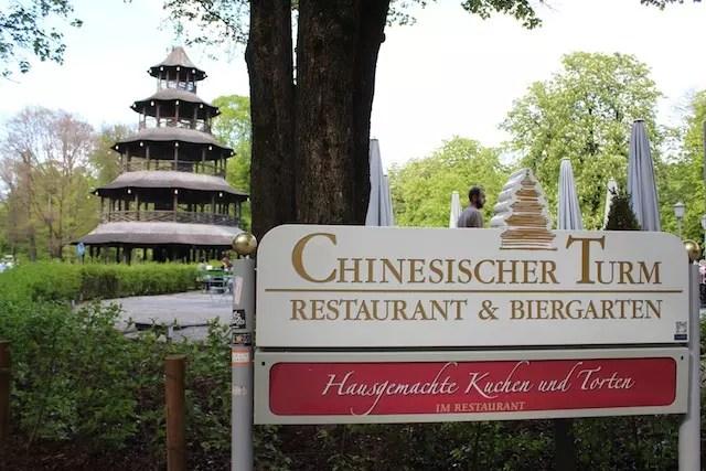 onde comer em Munique Chinesischer Turm Restauran