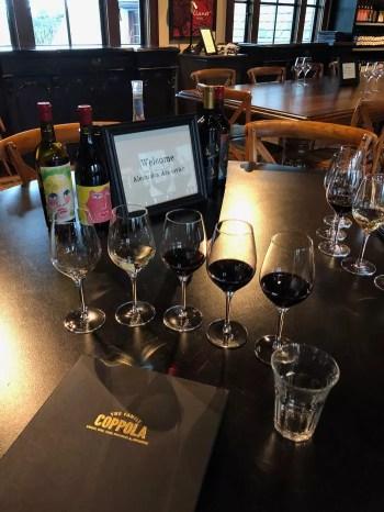 degustação vinícola do Coppola