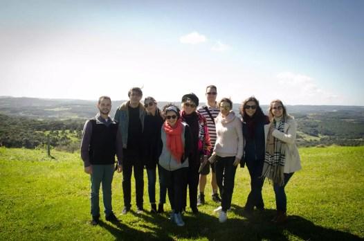 Grupo da viagem na Vinícola Abreu Garcia. Foto Tatiana Cavagnolli