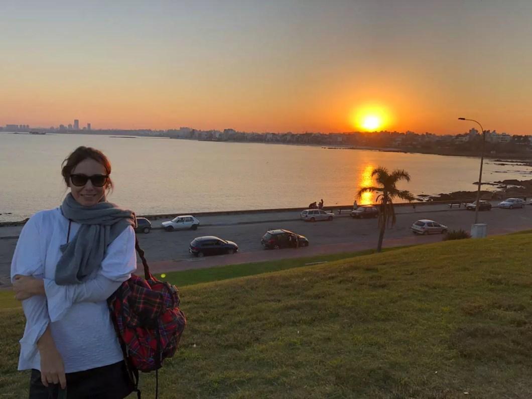 por do sol Montevideu