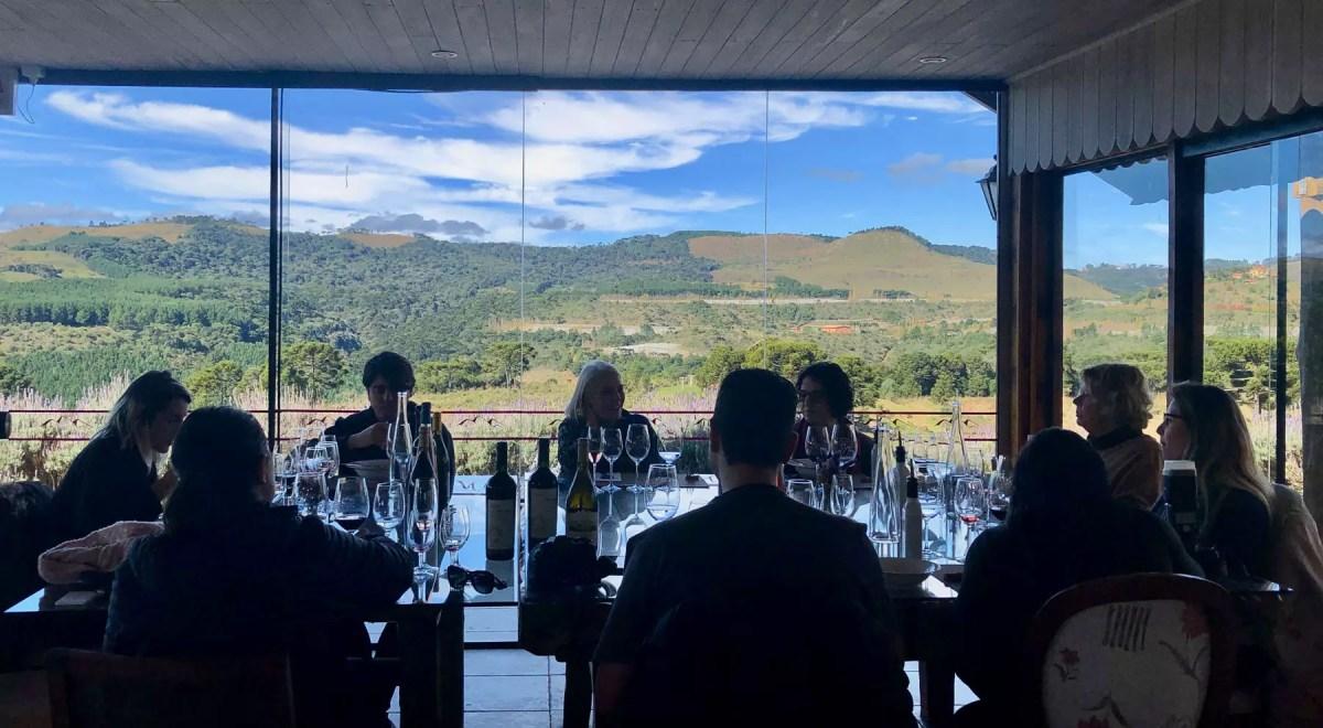 Almoço em vinícola em São Joaquim