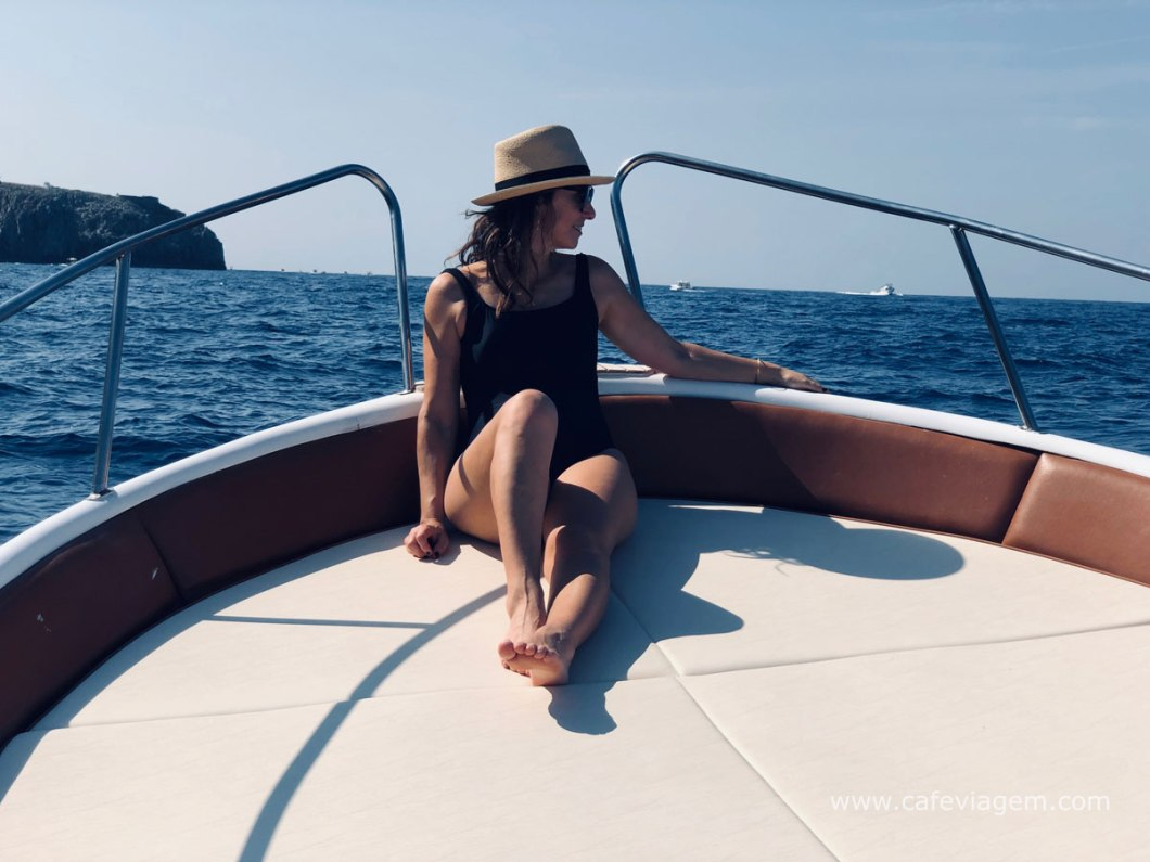 passeio de barco em Capri Itália