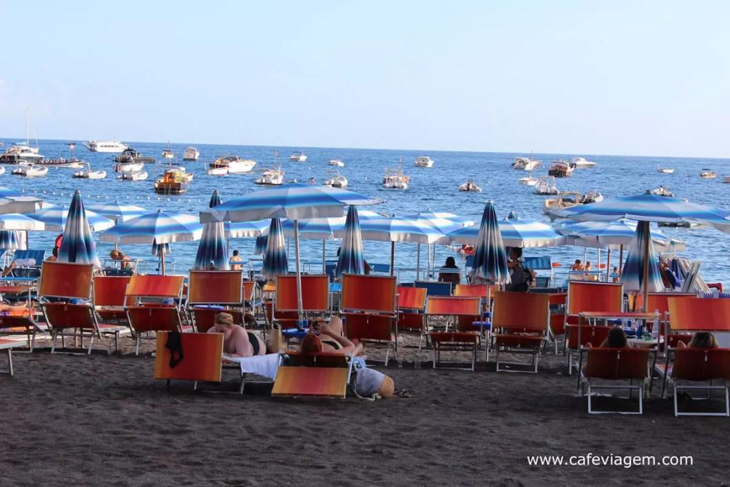 praia em Positano