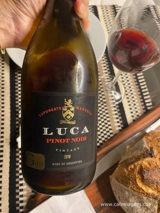 Luca Pinot Noir Vinhos da quarentena