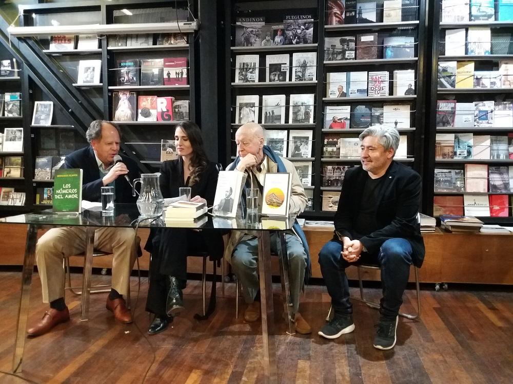Bernardo Alamos, Montserrat Martorell,Jorge Edwards y Ernesto Garrat
