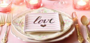 a romantic dinner course