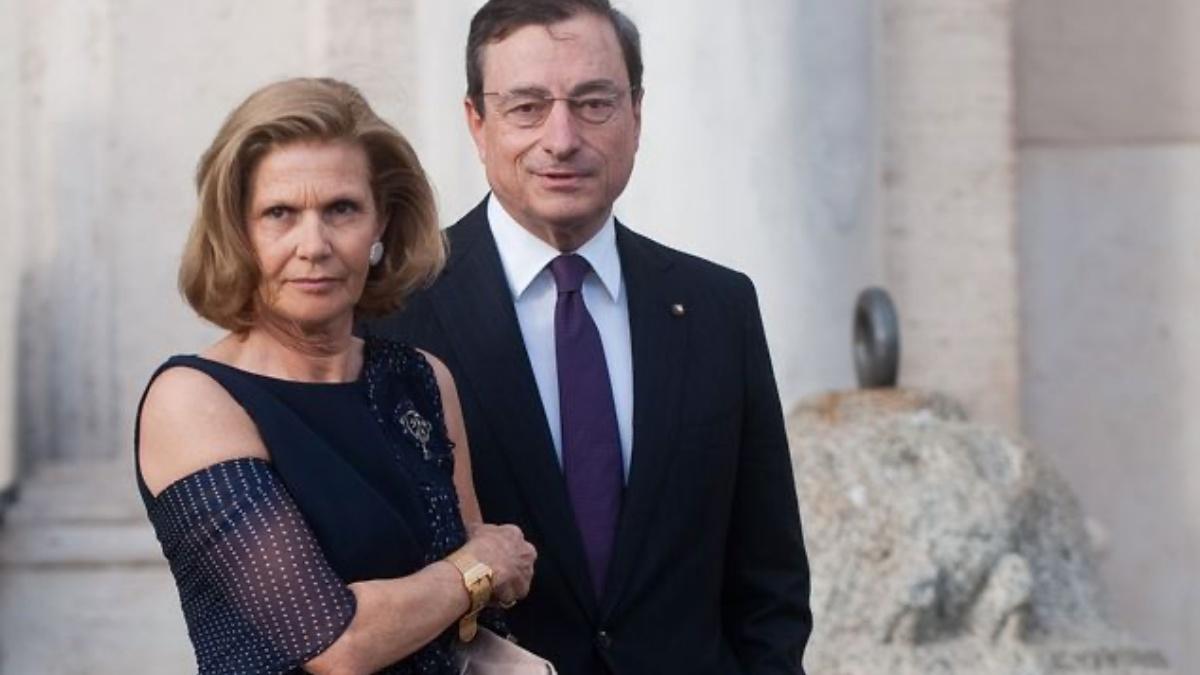 Mario Draghi moglie figli